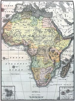Map of Africa 1890