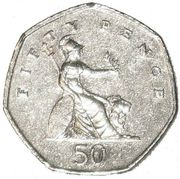 British fifty pence coin