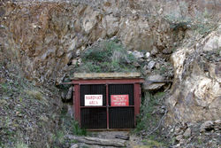 The entrance to an underground gold mine in Victoria, Australia