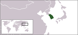 Location of South Korea