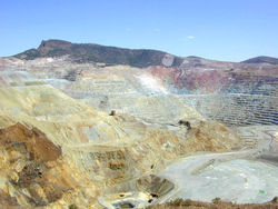 The El Chino Mine located near Silver City, New Mexico is an open-pit copper mine